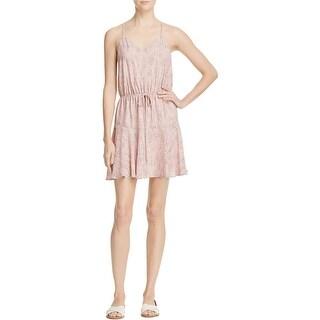 Aqua Womens Casual Dress Halter Blouson