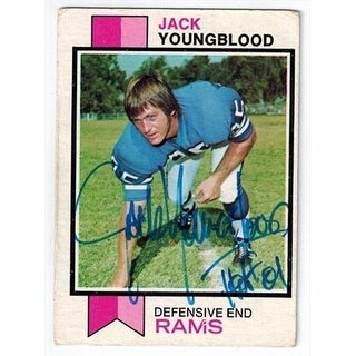 Jack Youngblood Signed Rams 1973 Topps Rookie Card No.343
