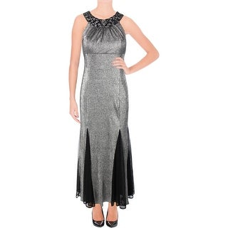 R&M Richards Womens Petites Evening Dress Beaded Halter - 12P
