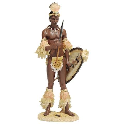 Design Toscano Shaka, the Zulu Warrior King Sculpture