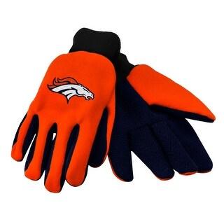 NFL Denver Broncos Work/Utility Gloves, One Size, Team Color