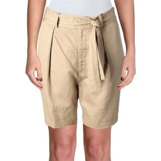 Polo Ralph Lauren Womens Khaki Shorts Twill High Rise