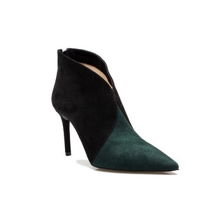 Prada Women's 2-Toned Suede High Heel Ankle Boot Shoes