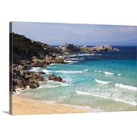 Premium Thick-Wrap Canvas entitled Waves rolling on the beach Spiaggia Rena Bianca