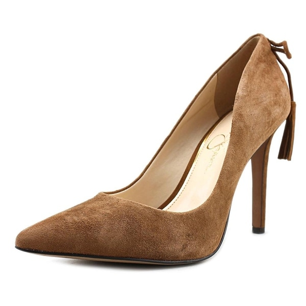 Jessica Simpson Centella Women  Pointed Toe Suede Brown Heels