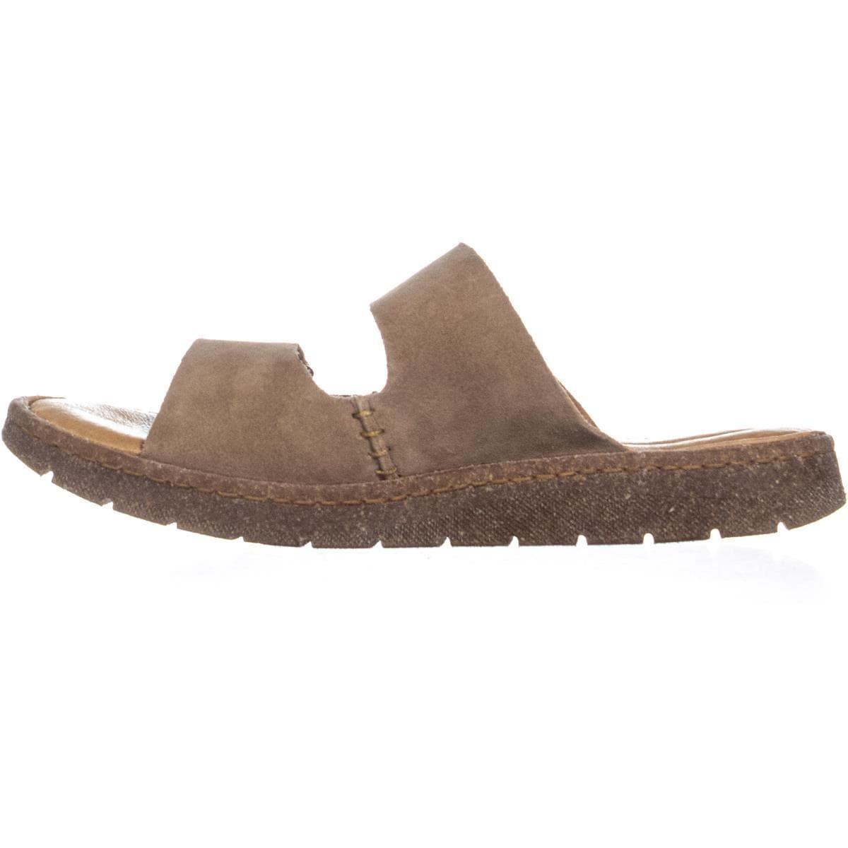 669b6c25dabb7 Shop Born Dominica Slide Flat Velcro Sandals, Taupe - 10 US / 42 EU - Free  Shipping Today - Overstock - 24303580
