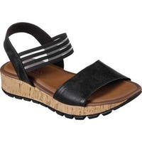 Skechers Women's Footsteps Markers Ankle Strap Sandal Black