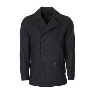 Men's 3/4 Wool Peacoat - Grey