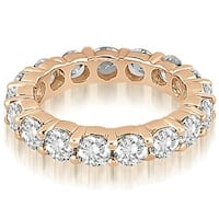 3.40 cttw. 14K Rose Gold Round Diamond Eternity Ring,HI,SI1-2