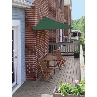 5 Piece Terrace Mates Standard Bistro Outdoor Patio Set   Green Olefin  Umbrella