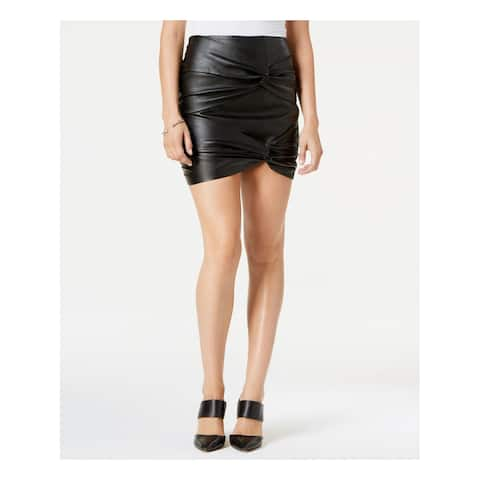 GUESS Womens Black Knotted Mini Pencil Skirt Size: 8