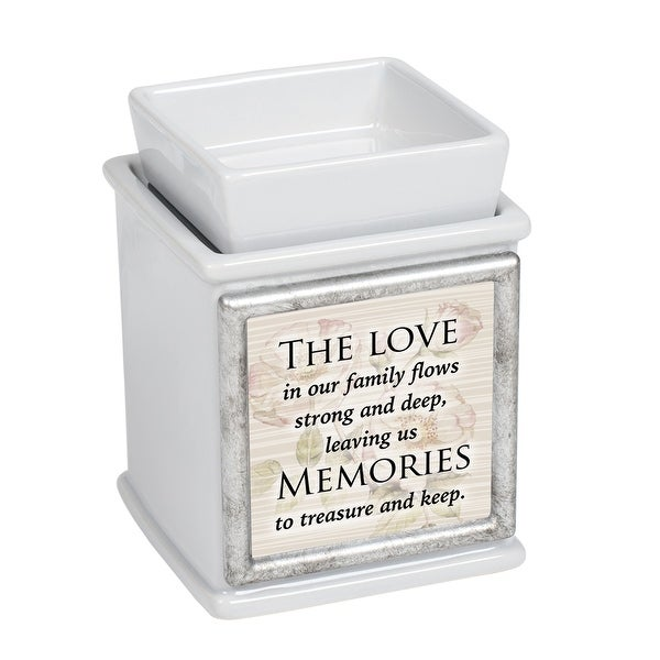 """5"""" White and Beige """"LOVE Family MEMORIES Keep"""" Printed Interchangeable Warmer - N/A"""