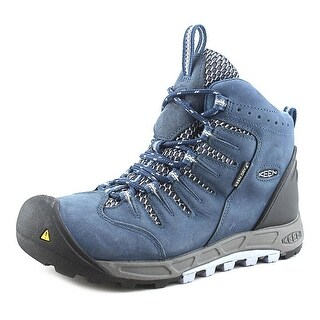 Keen Bryce Mid WP Round Toe Leather Blue Hiking Boot