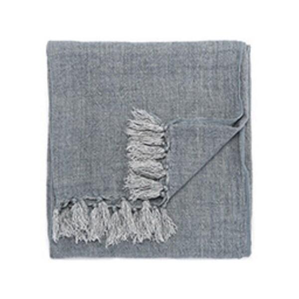 "Blue Linen Throw - MAU05 51""x67"""