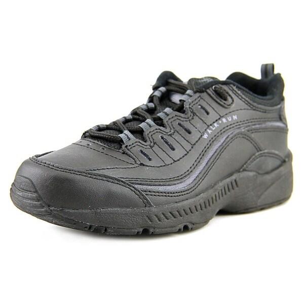 Easy Spirit Regine Women Round Toe Leather Black Walking Shoe
