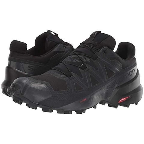 Salomon Men's Speedcross5 Trail Running Shoes,Black/Black Phantom,9.5
