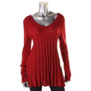 Studio M Womens Knit Long Sleeves Pullover Sweater