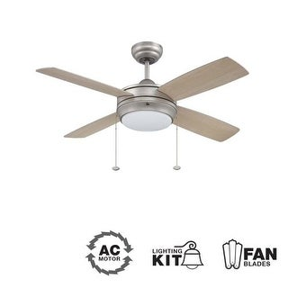"Ellington Fans Laval-44 Modern 44"" 4 Blade Indoor Ceiling Fan - Blades and Light Kit Included"