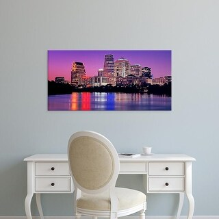 Easy Art Prints Panoramic Images's 'USA, Texas, Austin, View of an urban skyline at night' Premium Canvas Art