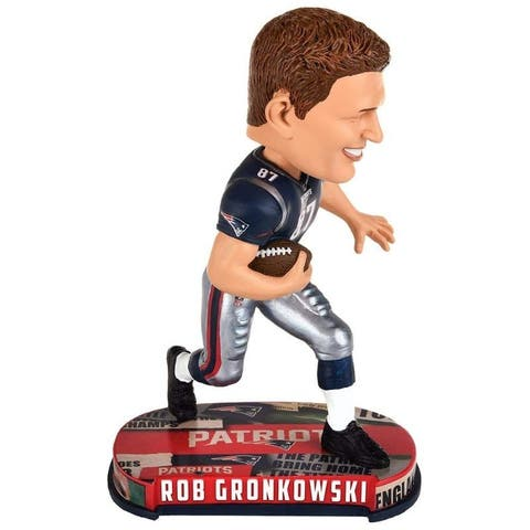 New England Patriots Bobble Headline Style Rob Gronkowski Design - Multi-Color