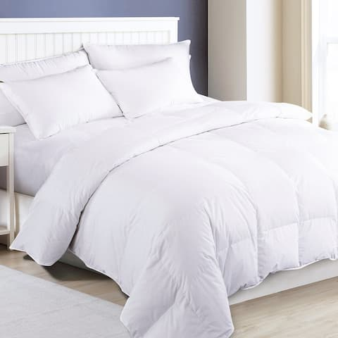 Extra Warmth Down and Feather Filled Duvet Comforter with Cotton Cover