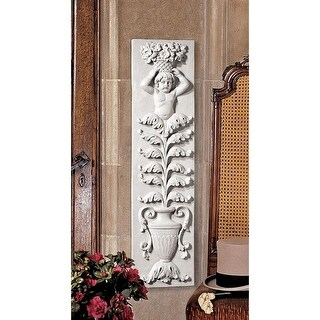 Design Toscano Angel of the Urn Sculptural Wall Frieze
