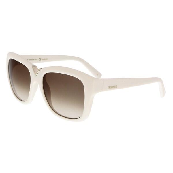 d3915d3c7c9 Shop Valentino V664S 103 Ivory Square Sunglasses - 55-17-135 - Free ...