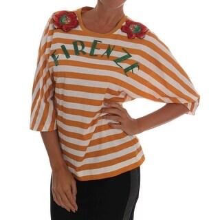 Dolce & Gabbana White Orange FIRENZE T-Shirt
