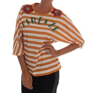 dcd361cae3aac Quick View.  605.00. Dolce   Gabbana White Orange FIRENZE T-Shirt