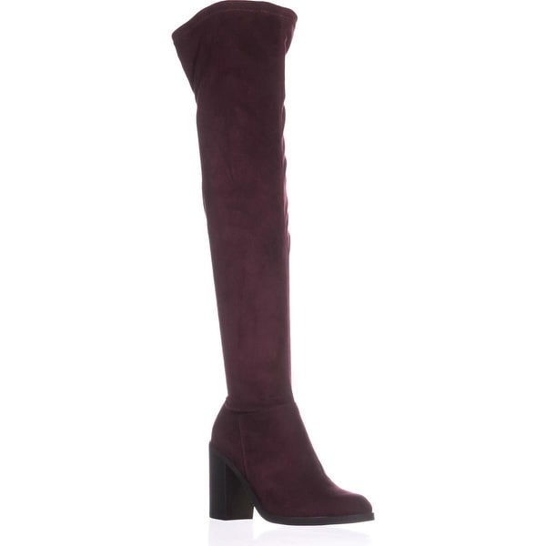 B35 Diandra Over The Knee Classic Boots, Malbec - 8 us