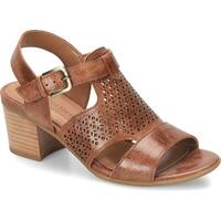 Comfortiva Womens Amber Leather Open Toe Special Occasion Slingback Sandals
