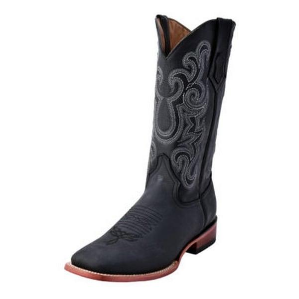 Ferrini Western Boots Mens Maverick Square Toe Lined Stitching 15193