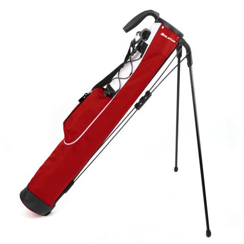 Orlimar Pitch and Putt Golf Lightweight Stand Carry Bag, Brick Red