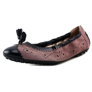 Tod's Ballerina Dee Bucature Nappine Round Toe Leather Ballet Flats