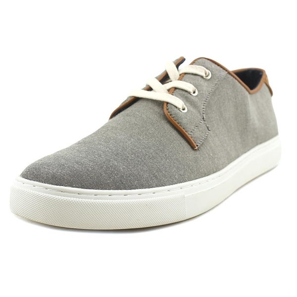 Tommy Hilfiger Mckenzie Men Round Toe Canvas Gray Sneakers