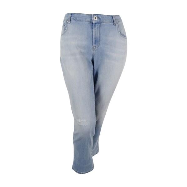 ad9cb397ceb Shop Style   Co. Women s Plus Curvy-Fit Ripped Port Wash Boyfriend Jeans  16W