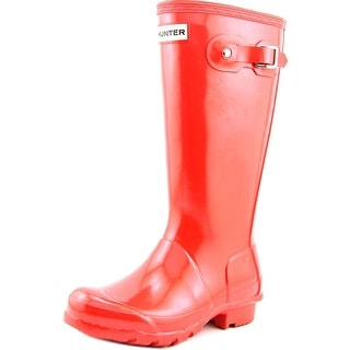 Hunter Original Kids Gloss Youth Round Toe Synthetic Red Rain Boot