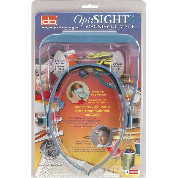 OptiSIGHT Magnifying Visor-Blue - Blue