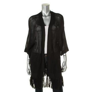 LRL Lauren Jeans Co. Womens Cardigan Sweater Open Stitch Fringe|https://ak1.ostkcdn.com/images/products/is/images/direct/4a7dd587fa98e19dc753e0e176964c515f273982/LRL-Lauren-Jeans-Co.-Womens-Cotton-Fringe-Cardigan-Sweater.jpg?impolicy=medium