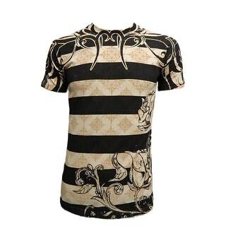 Konflic Men's Tribal Concrete Rose Graphic Designer MMA T Shirt