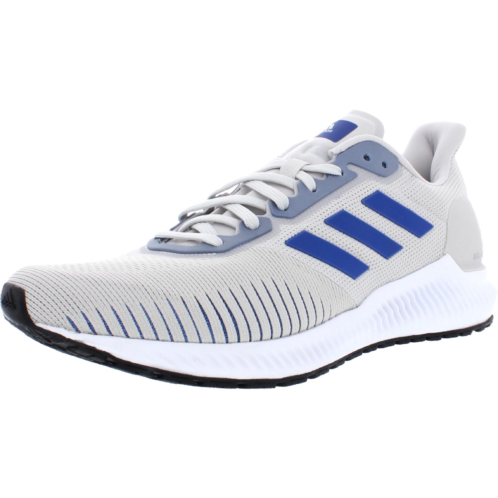 Adidas Mens Solar Ride Running Shoes Mesh Sport - Grey One/Collegiate Royal/Core Black