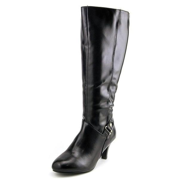 Karen Scott Harloww Wide Calf Women Round Toe Synthetic Black Knee High Boot