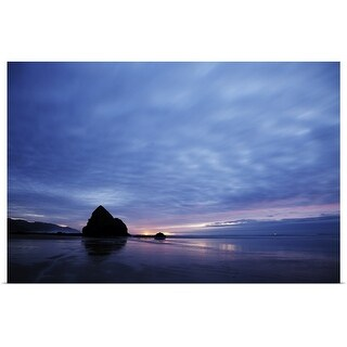 """""""Ocean after the sunset, Cannon Beach, Oregon"""" Poster Print"""