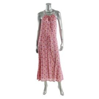 LRL Lauren Jeans Co. Womens Maxi Printed Sundress