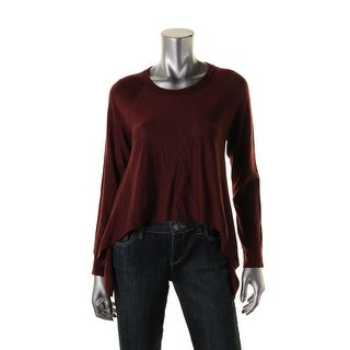 Eileen Fisher Womens Crop Wool Pullover Sweater