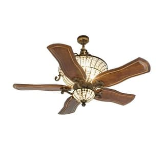 Shabby chic ceiling fans for less overstock craftmade k10663 cortana 54 5 blade dc indoor ceiling fan blades remote and aloadofball Image collections