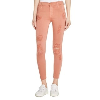 James Jeans Womens Denim Leggings Destroyed Low Rise - 28