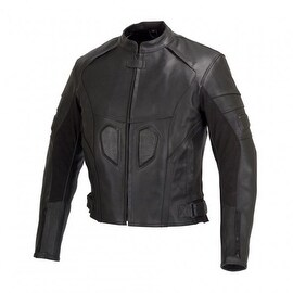 Men Motorcycle Biker Armor Leather Jacket by Xtreemgear Black MBJ021