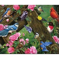 Rivers Edge Products REP739 Songbirds Glass Tempered Cutting Board