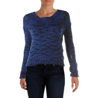 Material Girl Womens Sweater Marled Crop